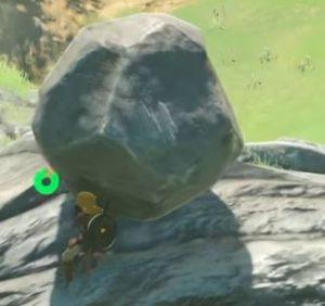 岩を押します