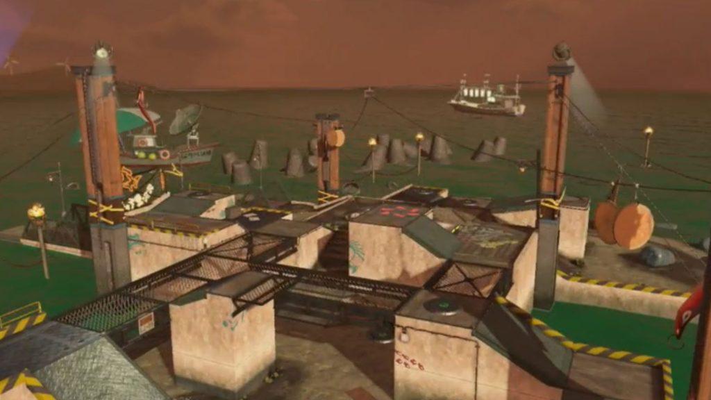 さびれた人工島