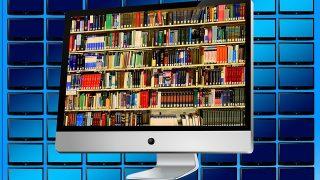 パソコンが図書館に