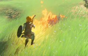 草を燃やします