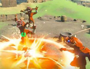 ジャンプ攻撃の衝撃派
