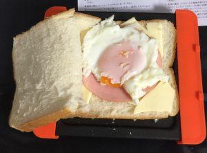 パンを乗せてレンジでチン