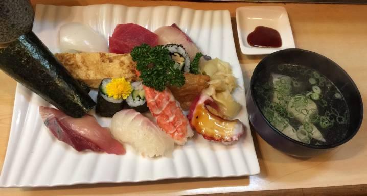 お寿司定食お吸い物