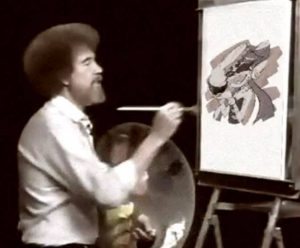 ね!簡単でしょ?ボブの絵画教室