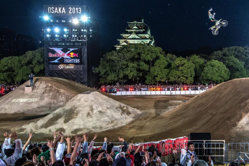 大阪城でのモトクロス