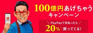 Paypay20%キャンペーン